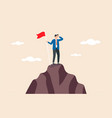 business goal achievement success career vector image