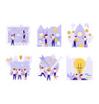 business people building a new idea vector image vector image