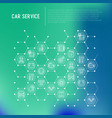 car service concept in honeycombs vector image vector image