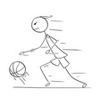 cartoon of basketball player running and vector image vector image
