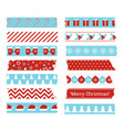 christmas decorative adhesive type vector image vector image