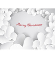 Christmas silver background with leafs and Merry vector image
