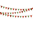 Christmas triangle bunting flags in green and red