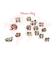couple in love national costume valentine day in vector image vector image