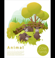 Cute animal family background with Cows 3 vector image vector image