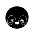 cute animal penguin head baby vector image