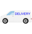 Delivery car vector image vector image