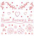doodle mother day art vector image vector image