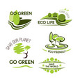 ecology nature and environment icon set vector image