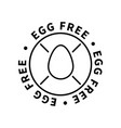 egg free simple icon modern design element vector image