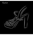 Elegant womens high heel shoe on black background vector image vector image