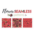 flower seamless pattern set vector image