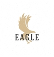 Flying Eagle hand drawn logo emblem template vector image vector image