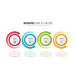 four steps infographic process chart with circular vector image vector image