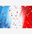 france confetti background french national vector image