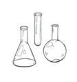 glass beaker sketch vector image vector image