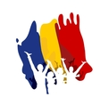 Great Union Day in Romania vector image vector image
