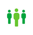 group of people - employee or teamwork icon - flat vector image vector image