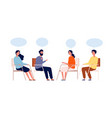 group therapy psychologist sitting help mentor vector image vector image