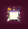 halloween banner with icons set vector image vector image