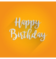 Happy Birthday Lettering Design vector image vector image