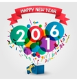 Happy new Year 2016 celebration with gift box vector image vector image