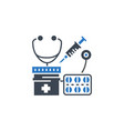 health care glyph related icon vector image vector image