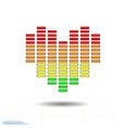 heart icon eq equalizer scale heart love vector image