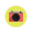 Hipster film camera vector image vector image
