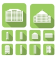 House flat icons set vector image