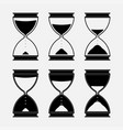 icons hourglass time vector image