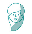 isolated cute woman face vector image
