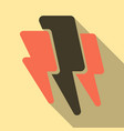 lightning flash bolt or thunderbolt electric vector image vector image