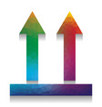 logistic sign of arrows colorful icon vector image vector image