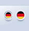 made in germany round label badge button vector image vector image