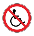 no disabled sign vector image vector image