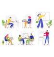 office workflow working business people remote vector image