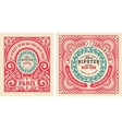 old cards with floral details elements organized vector image vector image