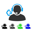 operator speech flat icon vector image vector image