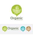 organic farm logo design vector image