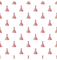Party hat pattern cartoon style vector image