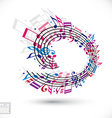 Pink and violet music background with clef and vector image vector image