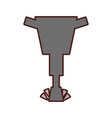 Pneumatic hammer isolated icon