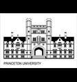 princeton university vector image vector image