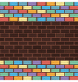 rainbow bricks vector image vector image