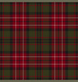 red green dark tartan check plaid pattern vector image vector image