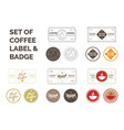 set coffee label vector image vector image