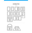 set icon window line vector image