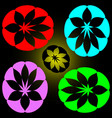 set of petals of different colors vector image vector image