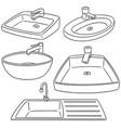 set of sink vector image